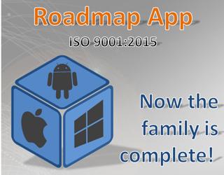 Die Familie der Roadmap App ISO 9001:2015 ist komplett